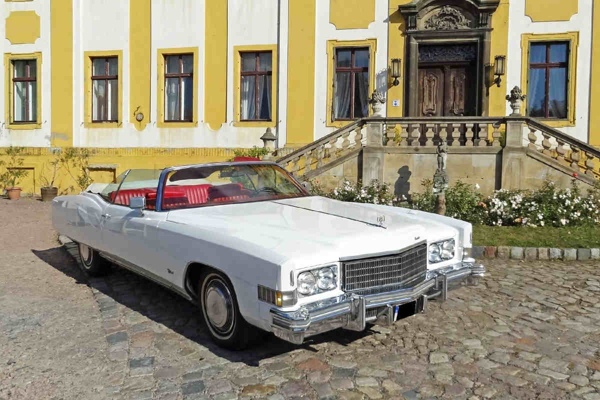 f r ihre hochzeit einen cadillac eldorado us car mieten dresden. Black Bedroom Furniture Sets. Home Design Ideas