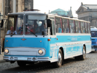 Oldtimerbus Fleischer S5 on Tour in Dresden