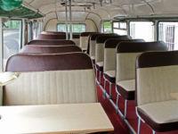 38 Sitzplätze im Oldtimerbus Ikarus 55 in Dresden