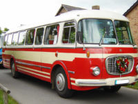 Oldtimerbus Skoda RTO - Front